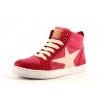 BISGAARD 31802 Sneakers mit Reissverschluss und Stern Velourleder
