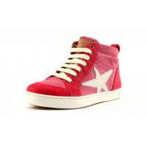 Bisgaard 31802 Sneaker mit Reissverschluss und Stern Velourleder
