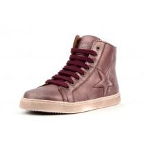 Bisgaard 31807 Sneaker mit Reissverschluss und Stern metallic