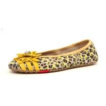 Living Kitzbühel 2735 Leder Ballerina Leopard & Margerite