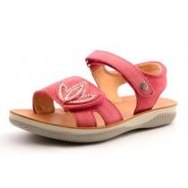 Naturino 5736 Mädchen Leder Klett-Sandale mit Glitzersteinen